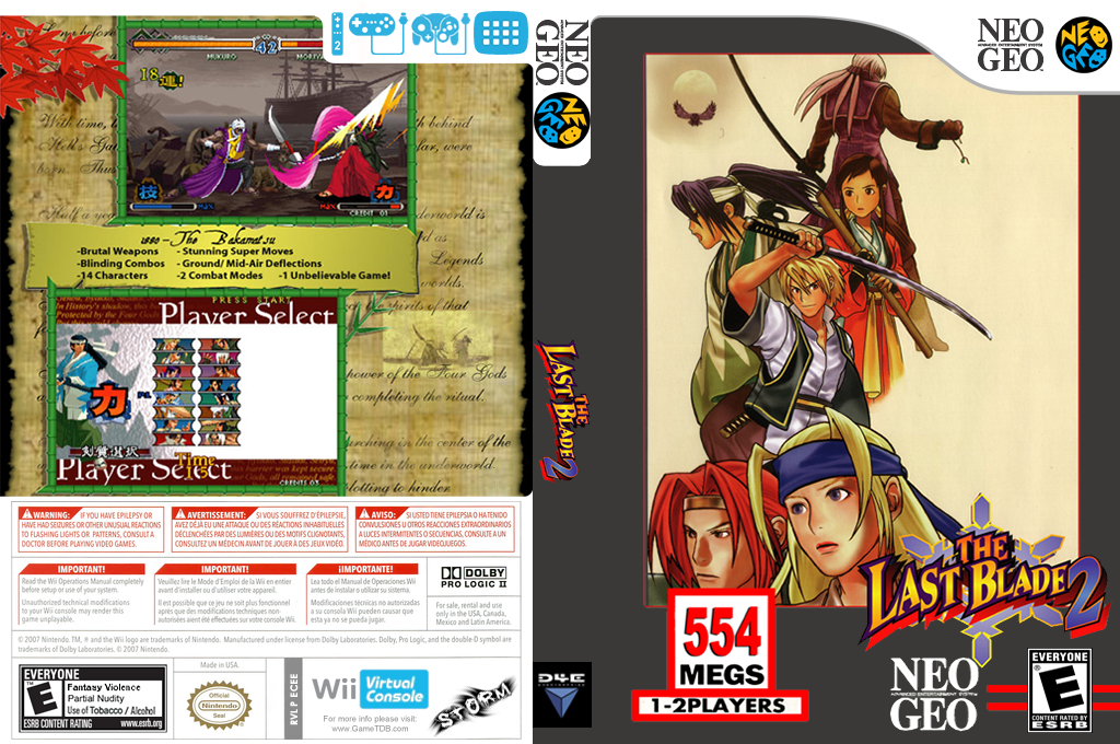 The Last Blade 2 Wii coverfullHQ (ECEE)