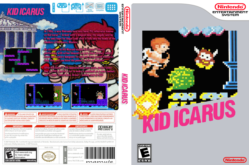 Kid Icarus Wii coverfullHQ (FBDE)