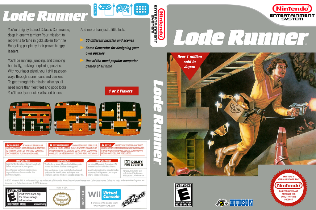 Lode Runner Wii coverfullHQ (FBLE)