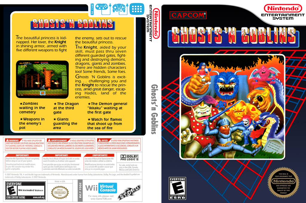 Ghosts 'n Goblins Wii coverfullHQ (FDGE)