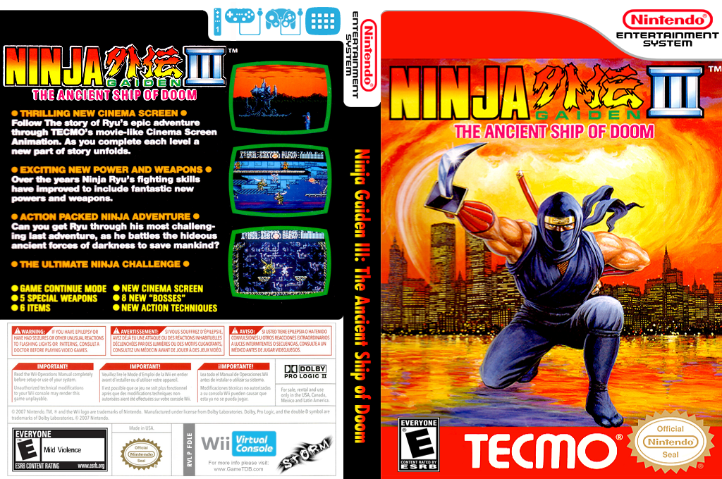 Ninja Gaiden III: The Ancient Ship of Doom Wii coverfullHQ (FDLE)