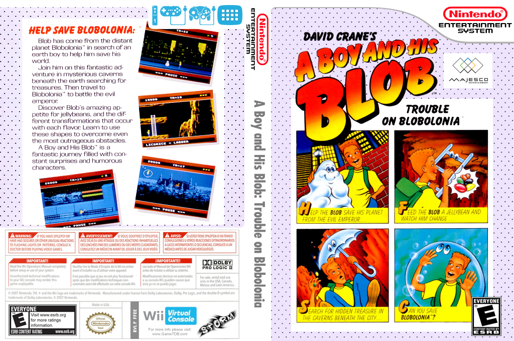 A Boy and His Blob: Trouble on Blobolonia Wii coverfullHQ (FFEE)