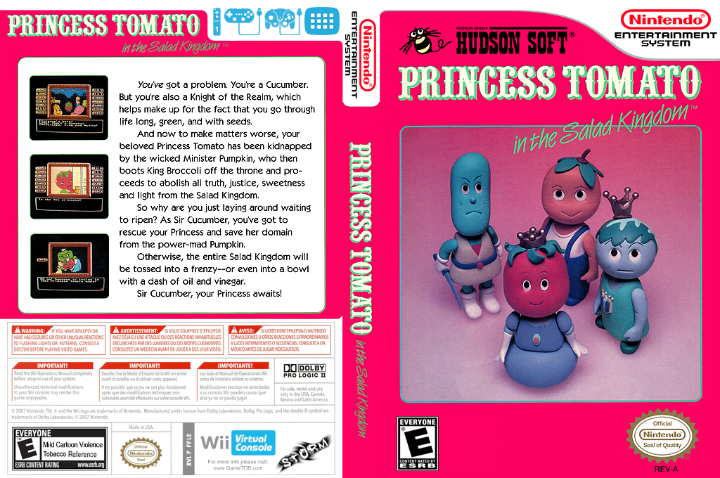 Princess Tomato in the Salad Kingdom Wii coverfullHQ (FFLE)