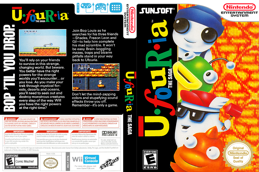Ufouria: The Saga Wii coverfullHQ (FFPB)