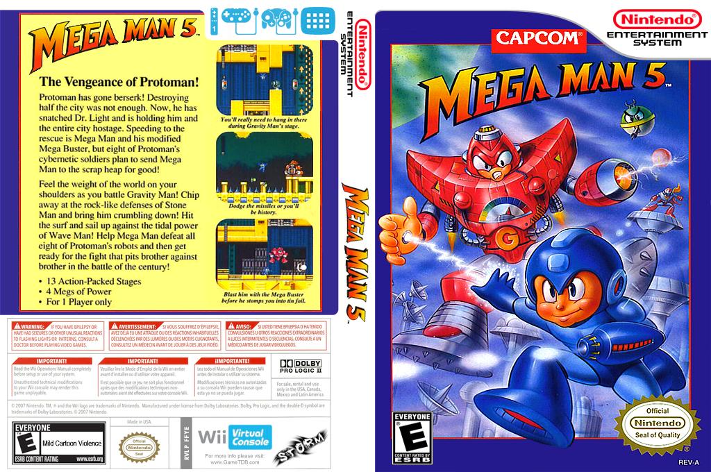 Mega Man 5 Wii coverfullHQ (FFYE)