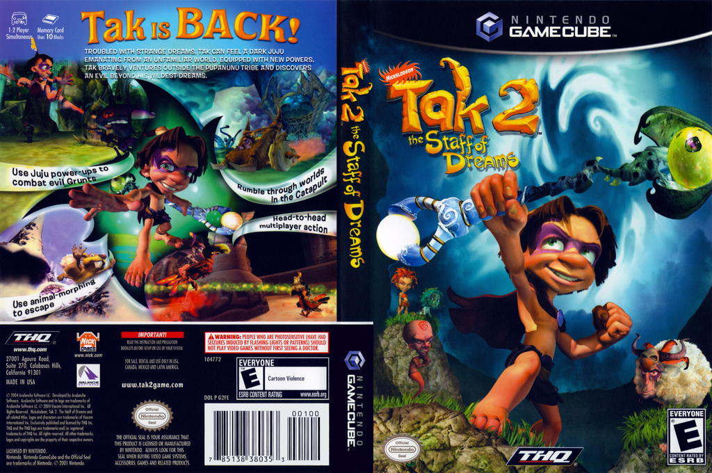 Tak 2: The Staff of Dreams Wii coverfullHQ (G2FE78)