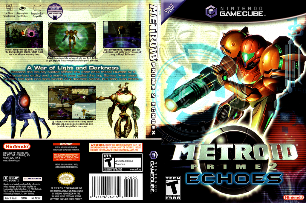 Metroid Prime 2: Echoes Wii coverfullHQ (G2ME01)