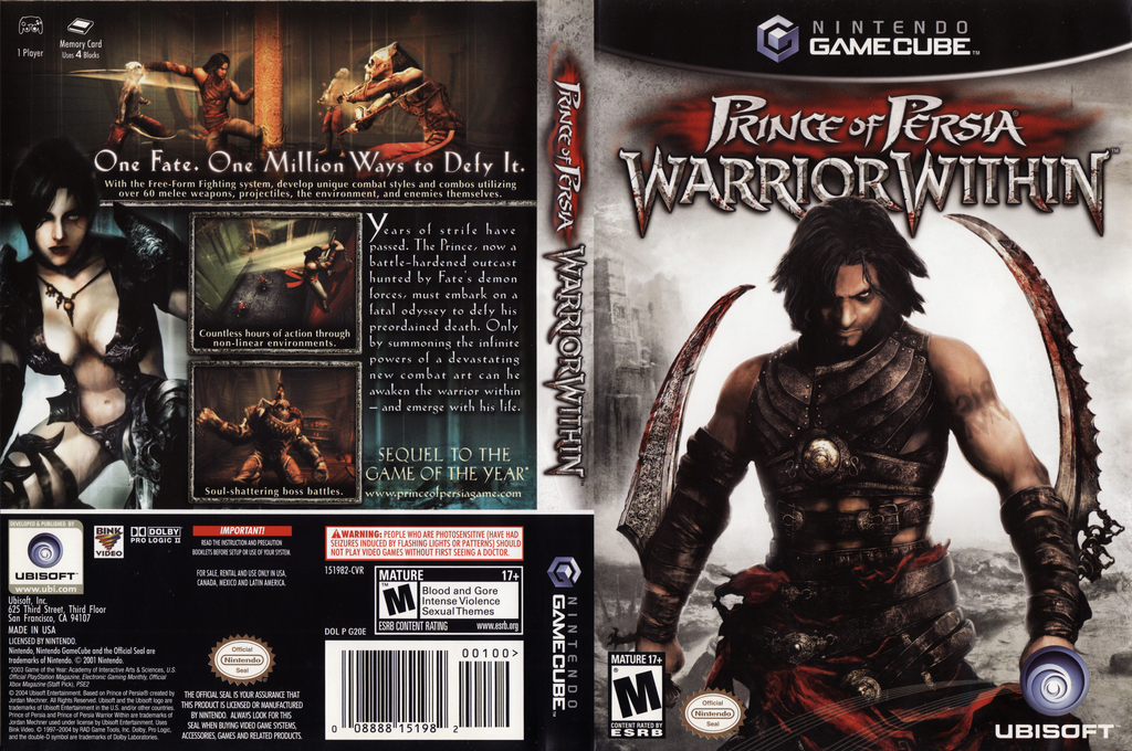 Prince of Persia: Warrior Within Wii coverfullHQ (G2OE41)
