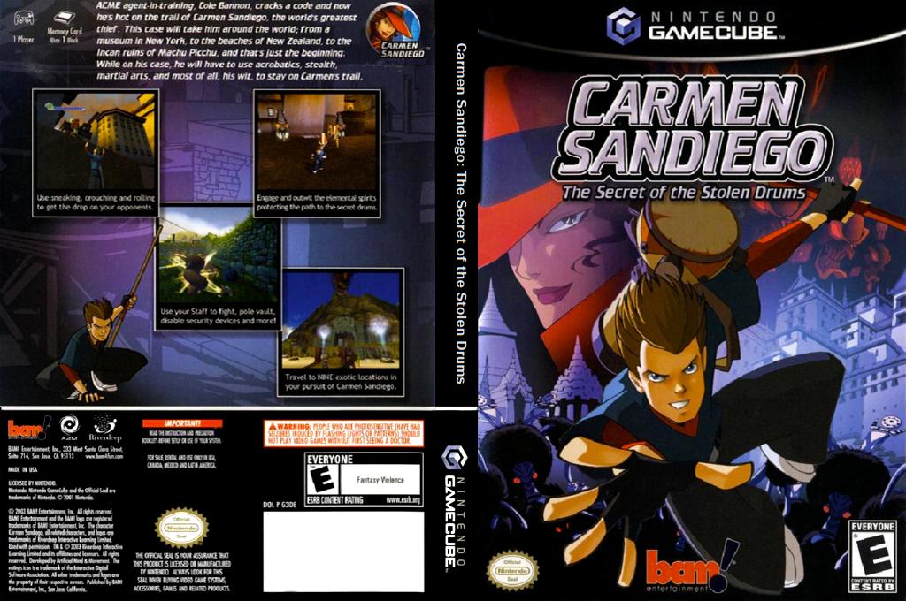 Carmen Sandiego: The Secret of the Stolen Drums Wii coverfullHQ (G3DE6L)