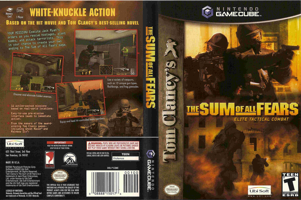 Tom Clancy's The Sum of All Fears Wii coverfullHQ (G3ME41)