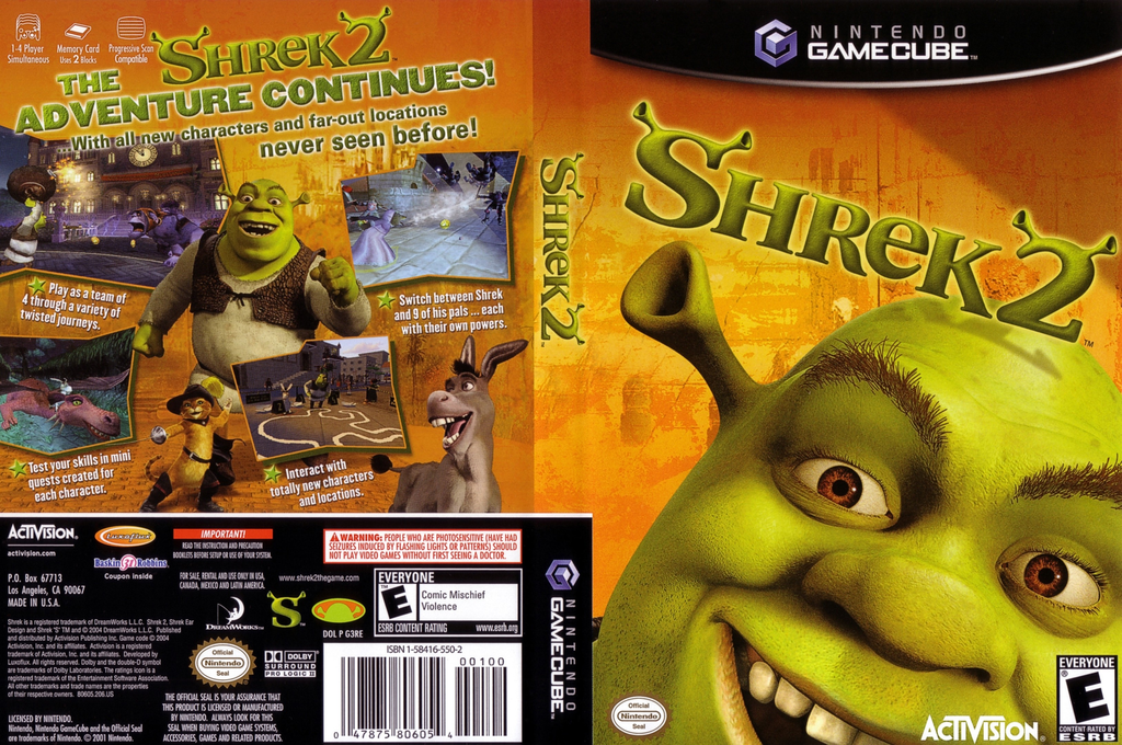 Shrek 2 Wii coverfullHQ (G3RE52)