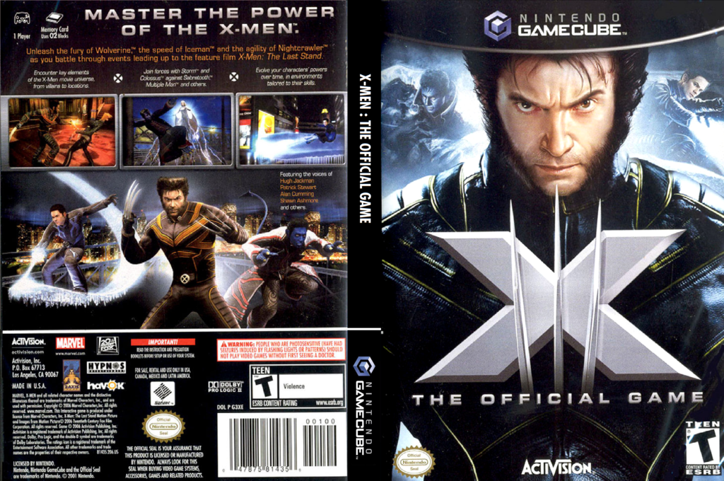 X-Men: The Official Game Wii coverfullHQ (G3XE52)