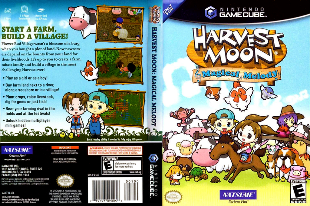 Harvest Moon: Magical Melody Wii coverfullHQ (G4AEE9)