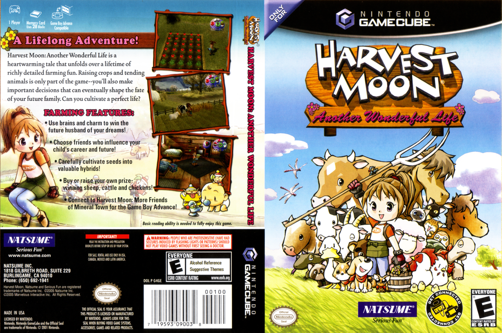 Harvest Moon: Another Wonderful Life Wii coverfullHQ (G4GEE9)