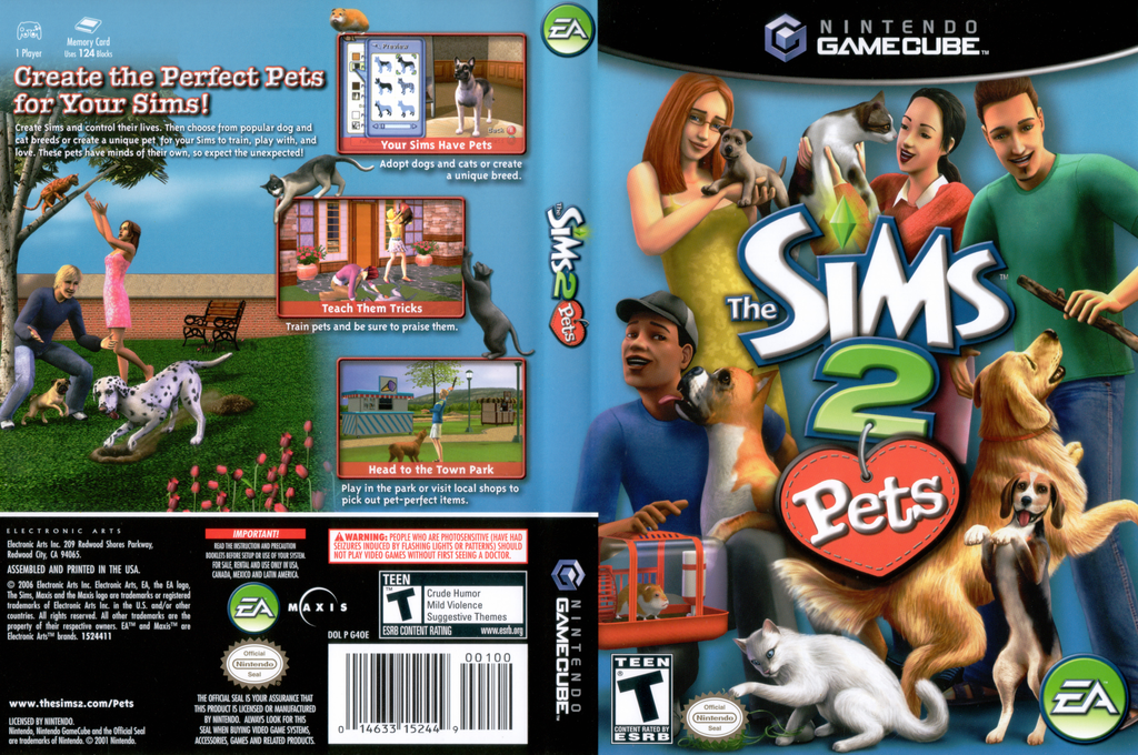 The Sims 2 : Pets Wii coverfullHQ (G4OE69)