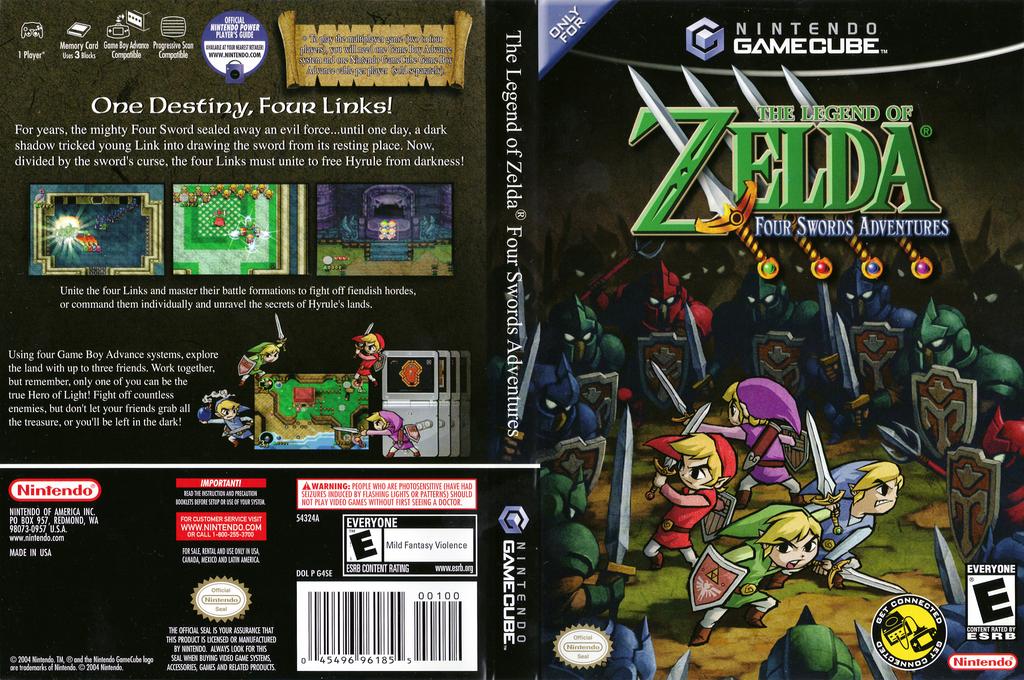 The Legend of Zelda: Four Swords Adventures Wii coverfullHQ (G4SE01)