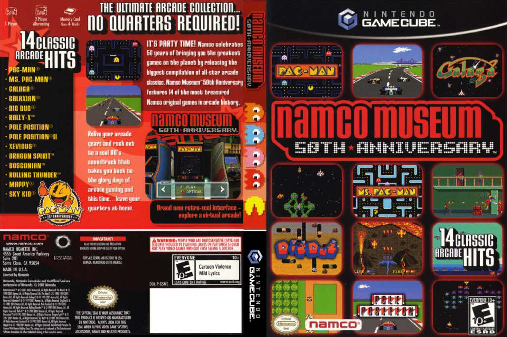 Namco Museum 50th Anniversary Wii coverfullHQ (G5NEAF)