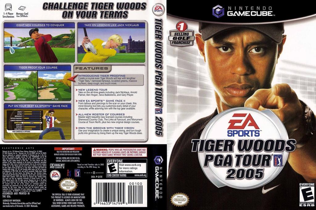 Tiger Woods PGA Tour 2005 Wii coverfullHQ (G5TE69)
