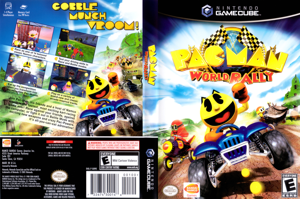 Pac-Man World Rally Wii coverfullHQ (G89EAF)