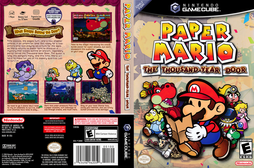 Paper Mario: The Thousand-Year Door Wii coverfullHQ (G8ME01)