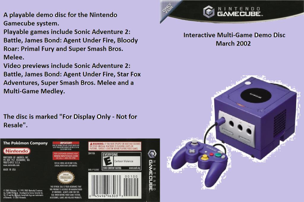 Interactive Multi-Game Demo Disc - March 2002 Wii coverfullHQ (G97E01)