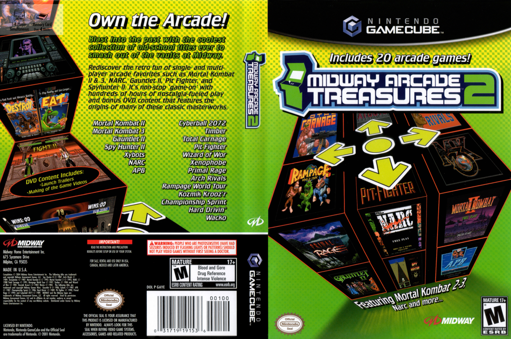 Midway Arcade Treasures 2 Wii coverfullHQ (GAYE5D)