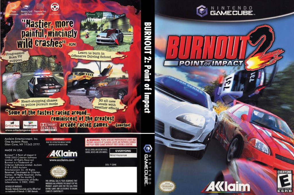 Burnout 2: Point of Impact Wii coverfullHQ (GB4E51)