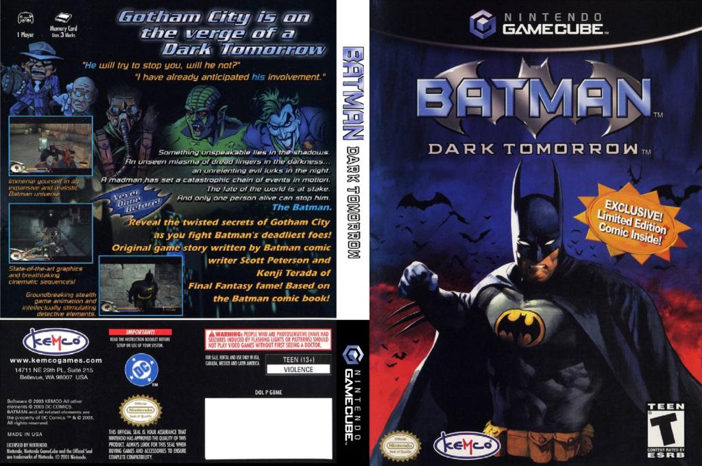 Batman: Dark Tomorrow Wii coverfullHQ (GBME7F)