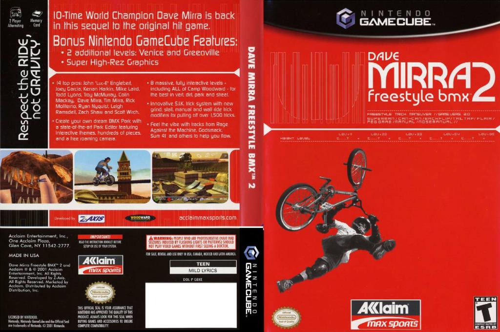 Dave Mirra Freestyle BMX 2 Wii coverfullHQ (GBXE51)
