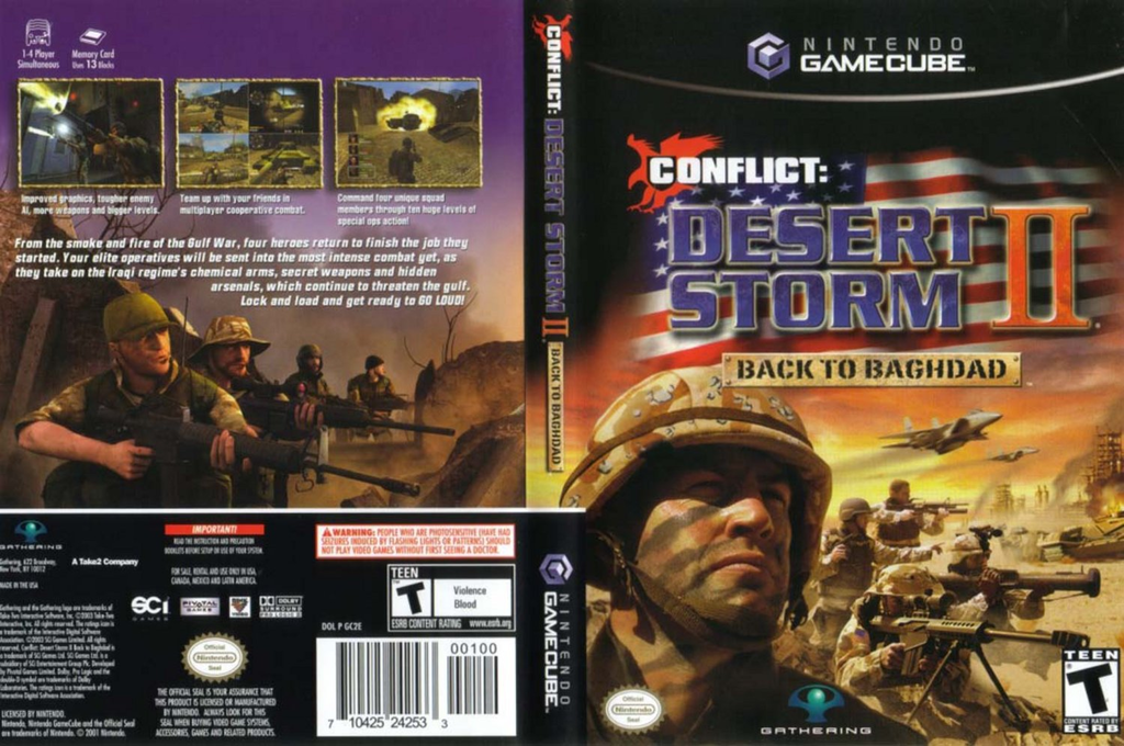 Conflict: Desert Storm II: Back to Baghdad Wii coverfullHQ (GC2E9G)