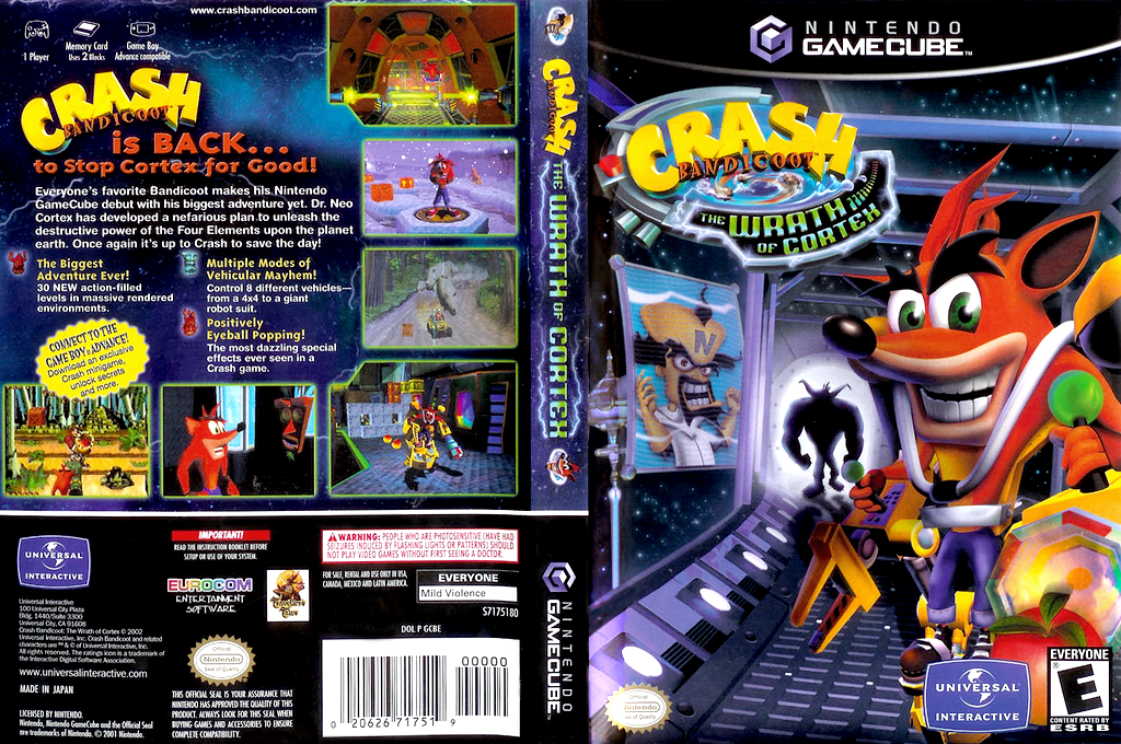 Crash Bandicoot: The Wrath of Cortex Wii coverfullHQ (GCBE7D)