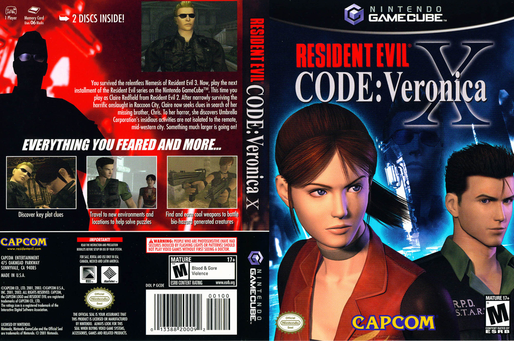 Resident Evil Code: Veronica X Wii coverfullHQ (GCDE08)