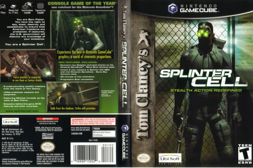 Tom Clancy's Splinter Cell Wii coverfullHQ (GCEE41)
