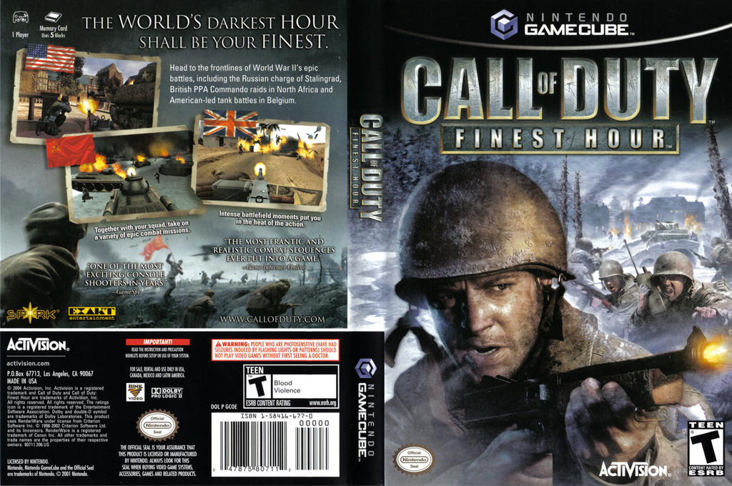 Call of Duty: Finest Hour Wii coverfullHQ (GCOE52)