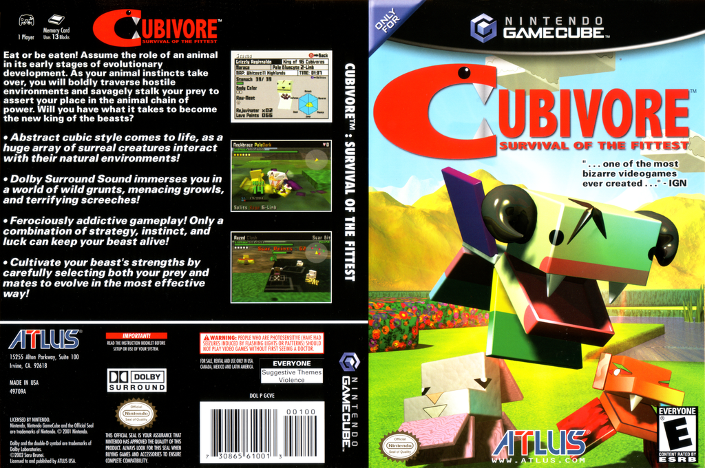 Cubivore: Survival of the Fittest Wii coverfullHQ (GCVEEB)