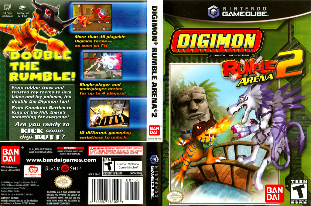 Digimon Rumble Arena 2 Wii coverfullHQ (GD6EB2)