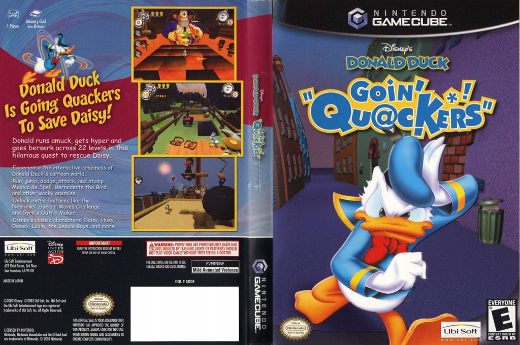 Disney's Donald Duck: Goin' Quackers Wii coverfullHQ (GDDE41)