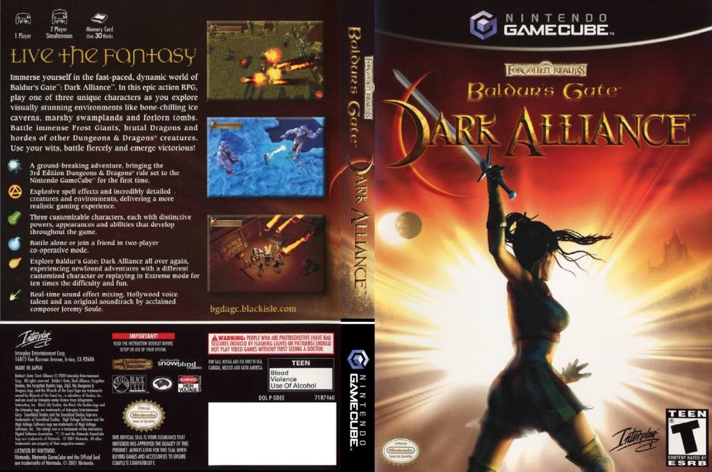 Baldur's Gate: Dark Alliance Wii coverfullHQ (GDEE71)