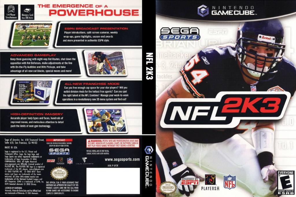 NFL 2K3 Wii coverfullHQ (GF3E8P)