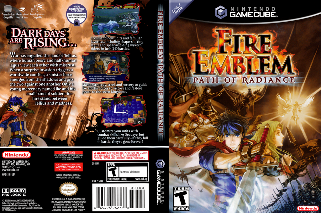 Fire Emblem: Path of Radiance Wii coverfullHQ (GFEE01)
