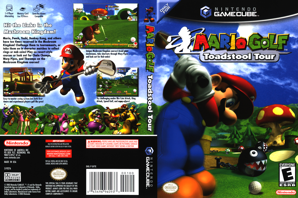 Gamecube Mario Golf Toadstool Tour Players