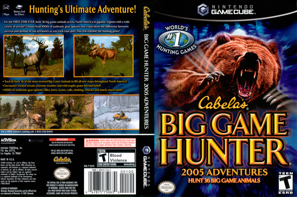 GG5E52 Cabelas Big Game Hunter 2005