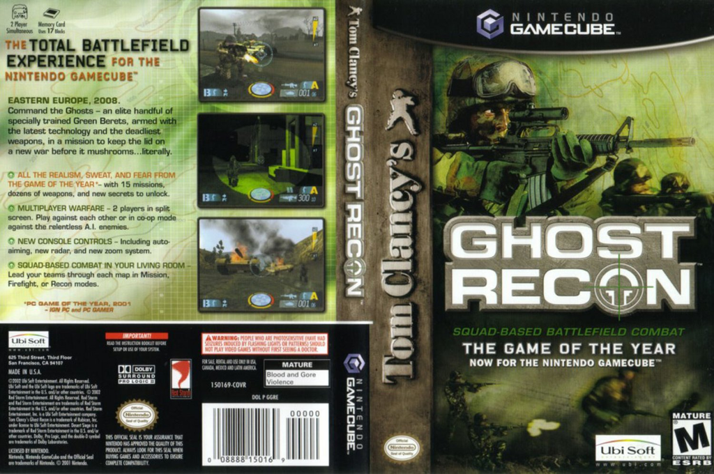 Tom Clancy's Ghost Recon Wii coverfullHQ (GGRE41)