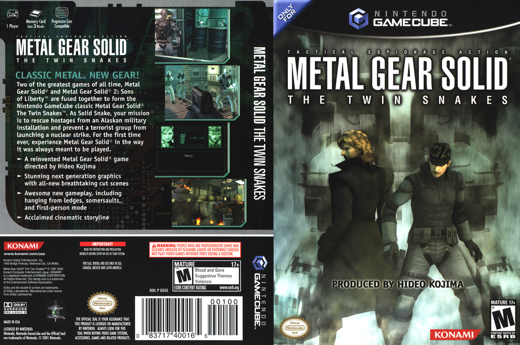 Metal Gear Solid: The Twin Snakes Wii coverfullHQ (GGSEA4)