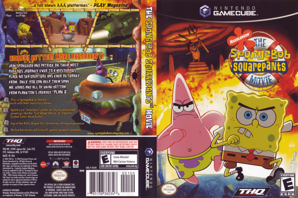 SpongeBob SquarePants: The Movie Wii coverfullHQ (GGVE78)