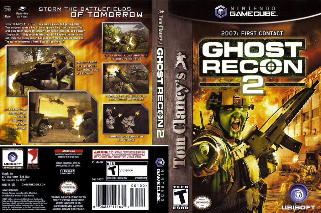Tom Clancy's Ghost Recon 2 Wii coverfullHQ (GGYE41)