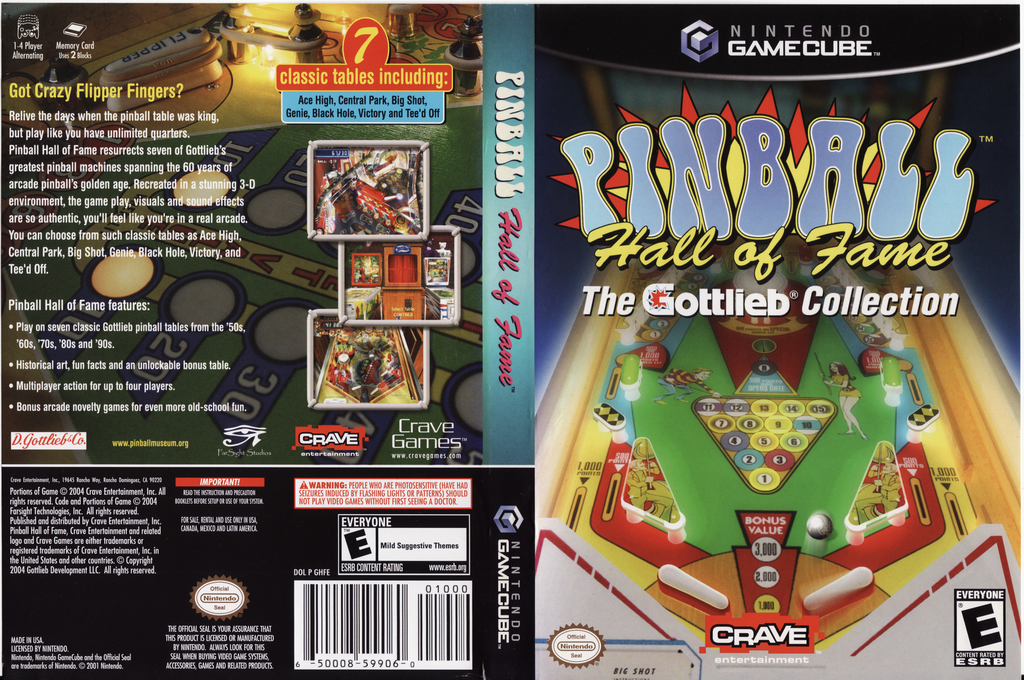 Pinball Hall of Fame: The Gottlieb Collection Wii coverfullHQ (GHFE4Z)