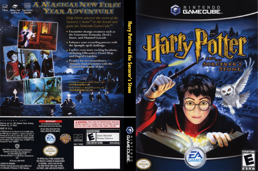 Harry Potter and the Sorcerer's Stone Wii coverfullHQ (GHLE69)