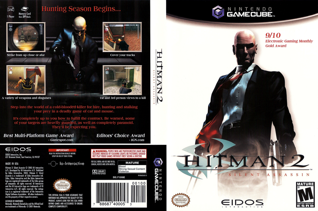 Hitman 2: Silent Assassin Wii coverfullHQ (GHME4F)