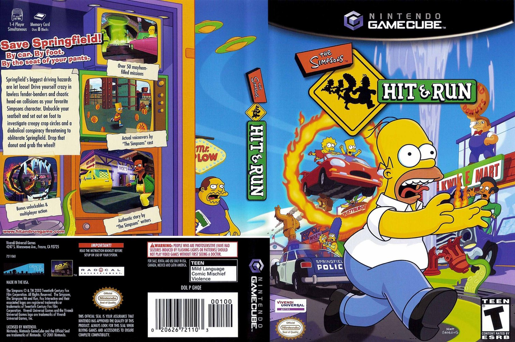 The Simpsons: Hit & Run Wii coverfullHQ (GHQE7D)